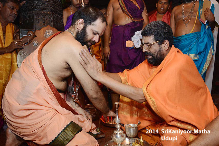 Felicitation By Lakshmivarathirtha Swamiji On 14 Jan 2014