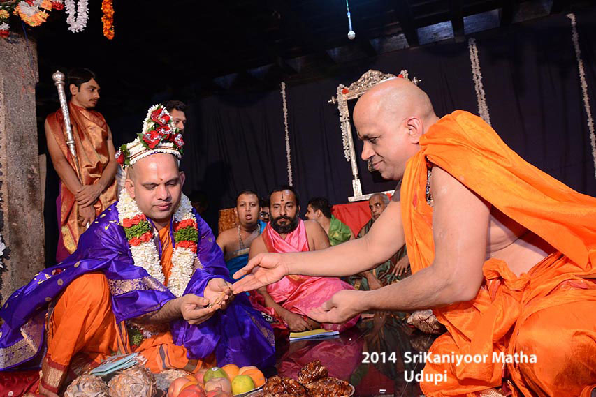 Felicitation at Shree Puttige Matha