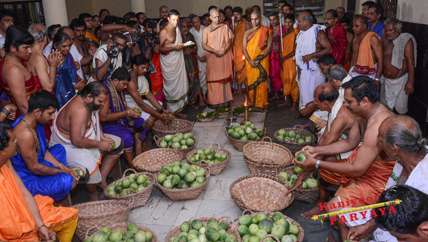 Visit to Srikrishna Matha for Tarakari Muhurtha for First Annadana