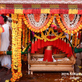 Decorated palanquin in which Lord Narasimha(Main diety of Knaiyooru Matha) is kept during procession